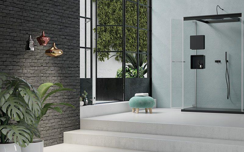 Immagine raffigurante stanza da bagno con box doccia