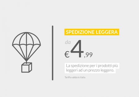 La spedizione per i prodotti leggeri ad un prezzo leggero. Da €4,99 in Italia.