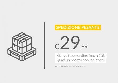 Riceva il suo ordine fino a 150 kg ad un prezzo conveniente. Da €29,99 in Italia.