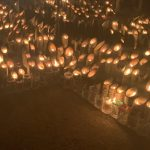 阪神・淡路大震災「追悼のつどい」の竹灯籠