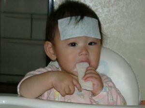 子供が熱でひえピタ