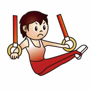 器械体操の絵
