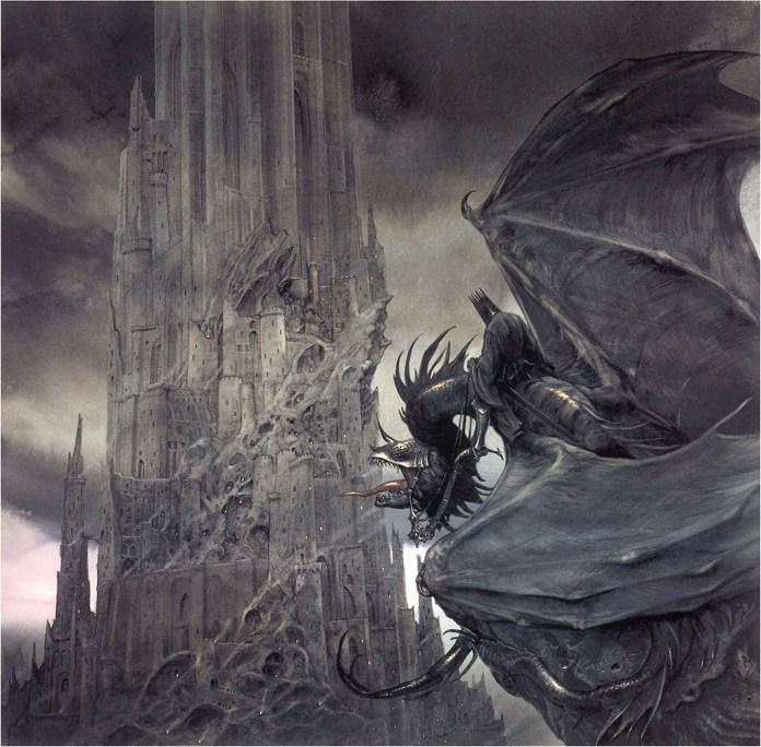 dessinateur illustrateur de talent drawer draw john howe lotr seigneur des anneaux lord opf the ring nazgul dragon black knight creativité talent