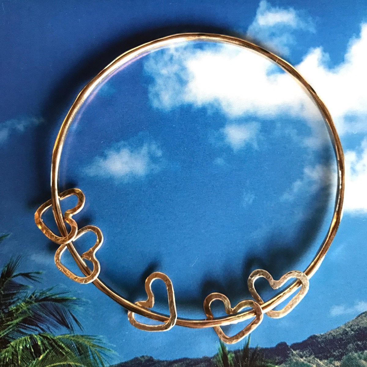 Beautiful bracelet with mini hearts by Malia Kai Jewelry