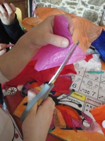 Découpage papier de soie