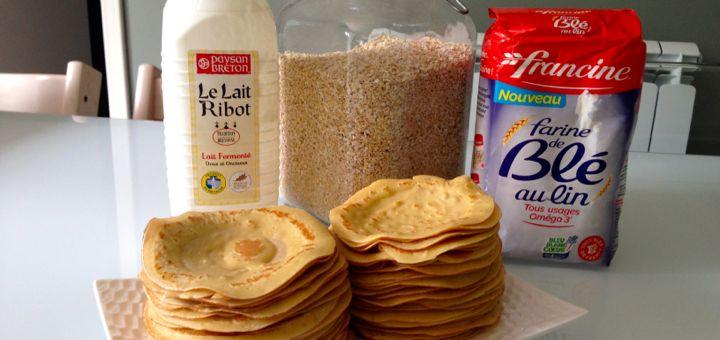 Mes crêpes au lait Ribot et aux flocons d'avoine