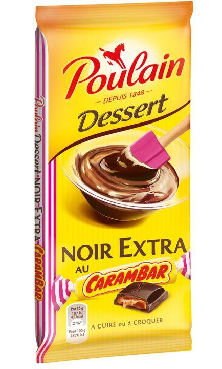Chocolat noir au Carambar