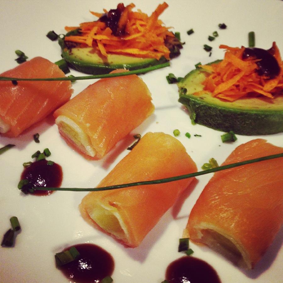 Cannelloni de saumon aux poireaux
