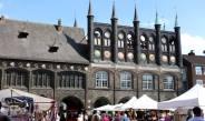 Markt vor dem Rathaus in Lübeck