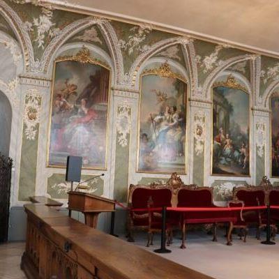 Der prächtige Audienzsaal im Rathaus