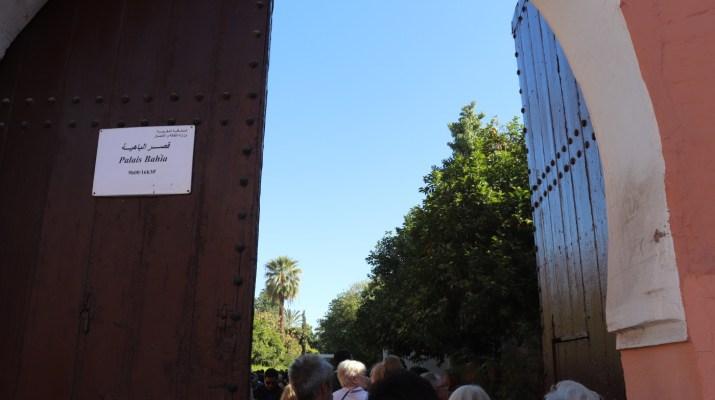 Eingang zum Bahia Palast in Marrakesch