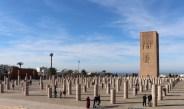 Überreste einer großen Moschee mit dem Hassan-Turm in Rabat