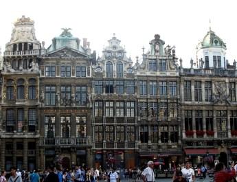 Prächtige Zunfthäuser am Grand Place in Brüssel