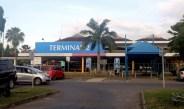 Ausgang am Flughafen Mombasa