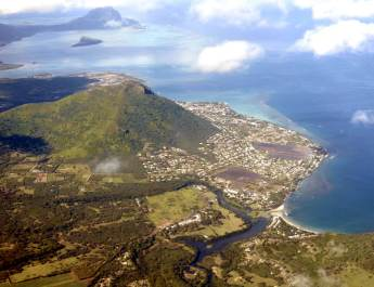 Der Berg Black River Peaks auf Mauritius