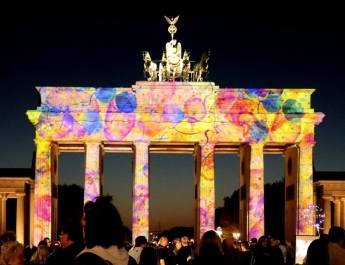 Das Brandenburger Tor beim Festival of Light