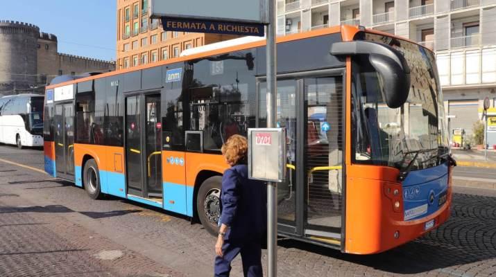 Stadtbus der Verkehrsbetriebe ANM in Neapel