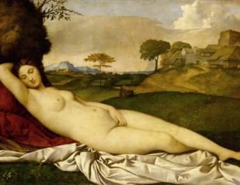 """Die """"Schlummernde Venus"""" von Giorgione/Tizian"""
