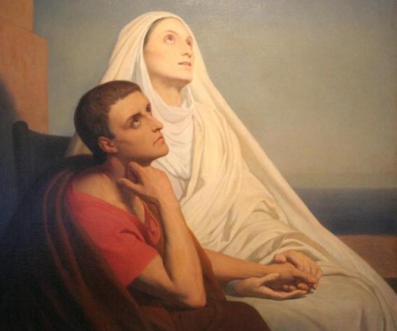 Ary Scheffer, San Agustín y santa Mónica, 1858.