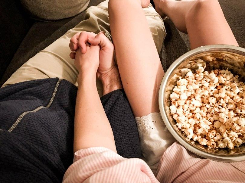Movie Night Filme Filmeabend Popcorn Paar