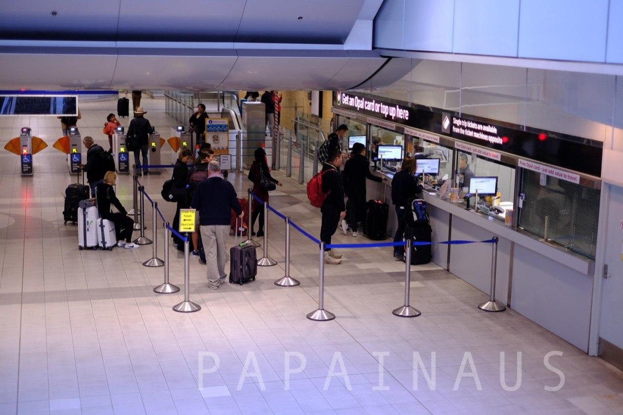 シドニー空港券売所