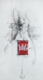 'Atlas XIV', Pencil, marker and acrylic on paper, 48cm.X26cm., 2012