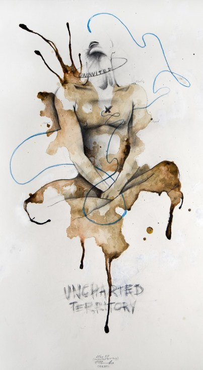 'Atlas XII (Uncharted Territory)', Pencil, colour pencil and ink on paper, 59cm.X31cm., 2011