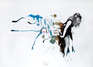 'Atlas ΧΧI', Pencil, ink and acrylic on paper, 41cm.X57cm., 2012