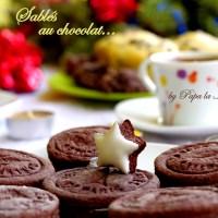 Sablés au chocolat... biscuiti cu cacao