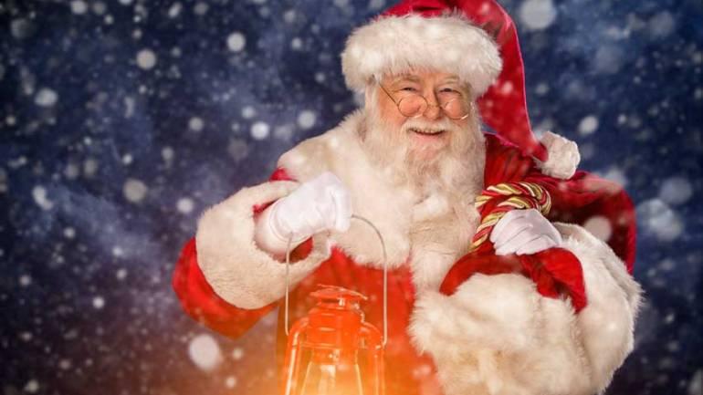Der Weihnachtsmann an Weihnachten