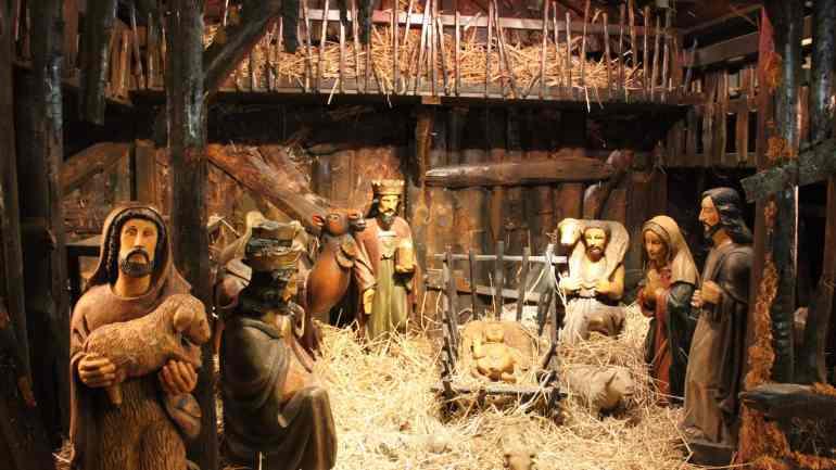 Frohe Weihnachten - Die heilige Familie