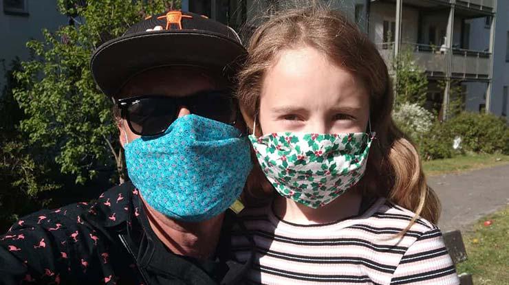 Papap & Tochter in der Coronakrise
