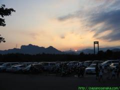 2007_08_12 横川SAから夕日.JPG