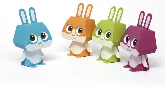 papertoys pour enfants lapin