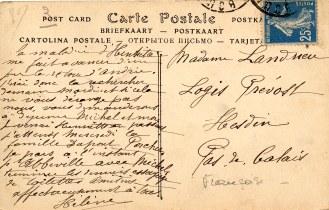Dos carte postale de La Vierge
