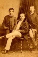 Raoul LANDRIEU (12), Émile MAILLET, frère d'Olympe, Valentin LANDRIEU (11)