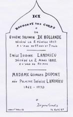A Caours - Tombe de la branche de l'Heure - (photo du 24/10/1967)