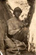 """Juillet 1917 - Denis PADIEU (533) - Dans les tranchées : """"à ma cousine Florence, Denis"""""""