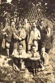 Mai 1921 - A l'école de GRIGNON : ? - ? - Michel LANDRIEU (171) - ? - ? - Denis LANDRIEU (173), ? - ?- ?