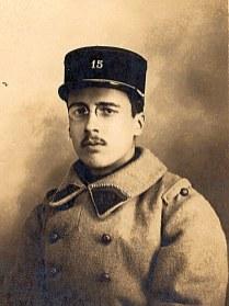 1927 - René LANDRIEU (444) - Pendant son service militaire dans l'artillerie