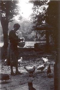1934-35 - Mathilde LANDRIEU-PORCHER (23) - A l'Abbaye - St Valéry/ Somme