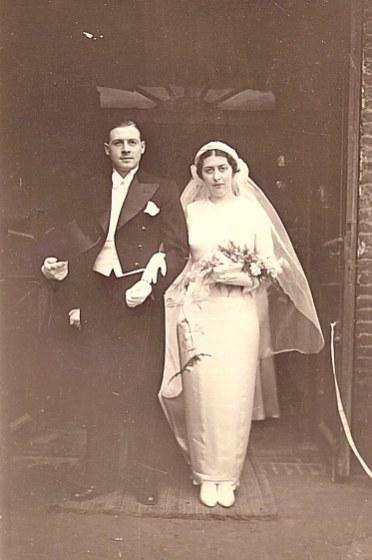1935 - Mariage de Lucien LANDRIEU et de Marcelle Bouteiller