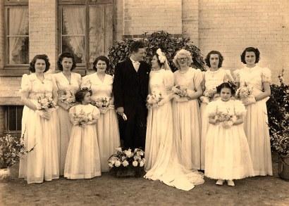 """16 Avril 1947 : Mariage de Jacqueline LANDRIEU (1731), à """"La Vigie"""""""