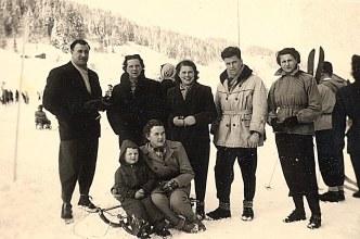 Janvier 1951 à Morzine - Au Tremplin