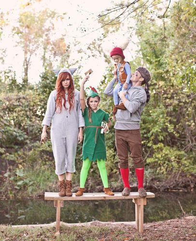 Peter Pan y los niños perdidos. Disfraz familiar. I