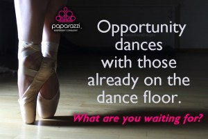 Opportunity dances with those on the dance floor - Paparazzi jewelry graphic