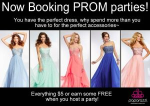 Now booking Paparazzi jewelry prom parties