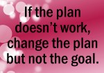 change the plan but not the goal quote