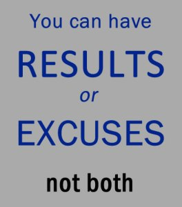 Results or excuses quote | Paparazzi team inspiration