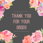 thank you for your order from my Paparazzi jewelry party